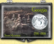 Georgia - Stone Mountain Snaplock Display