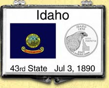 Idaho - State Flag Snaplock Display