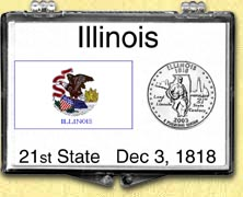 Illinois - State Flag Snaplock Display