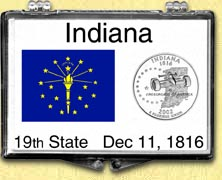 Indiana - State Flag Snaplock Display