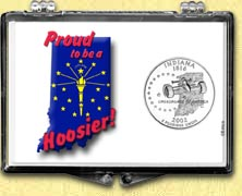 Indiana - Proud to be a Hoosier Snaplock Display