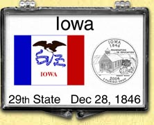 Iowa - State Flag Snaplock Display