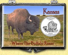 Kansas - Where The Buffalo Roam Snaplock Display