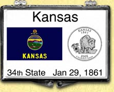Kansas - State Flag Snaplock Display
