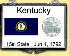 Kentucky - State Flag Snaplock Display