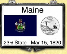 Maine - State Flag Snaplock Display