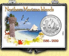 Northern Mariana Islands - Beach Snaplock Display