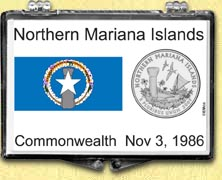 Northern Mariana Islands Flag Snaplock Display