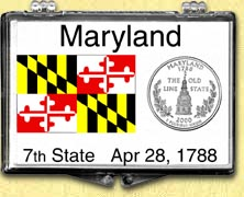 Maryland - State Flag Snaplock Display