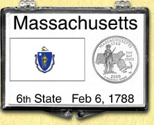 Massachusetts - State Flag Snaplock Display