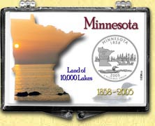 Minnesota - Land of 10,000 Lakes Snaplock Display