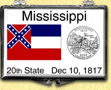 Mississippi - State Flag Snaplock Display