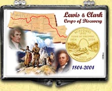 Missouri - Lewis & Clark Snaplock Display - with Gold Plated State Quarter