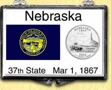 Nebraska - State Flag Snaplock Display