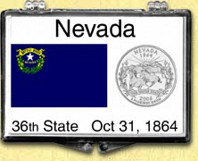 Nevada - State Flag Snaplock Display