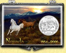 Nevada - Horses Snaplock Display
