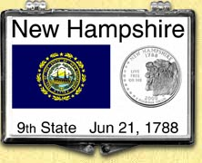 New Hampshire - State Flag Snaplock Display