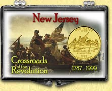 New Jersey - Crossroads of the Revolution Snaplock Display - with Gold Plated State Quarter