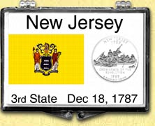 New Jersey - State Flag Snaplock Display