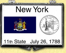 New York - State Flag Snaplock Display