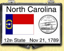 North Carolina - State Flag Snaplock Display
