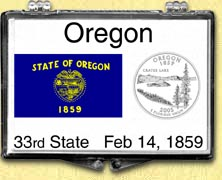 Oregon - State Flag Snaplock Display