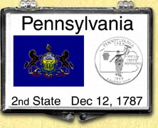 Pennsylvania - State Flag Snaplock Display