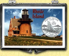 Rhode Island - Lighthouse Snaplock Display