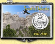 South Dakota - Mt. Rushmore Snaplock Display