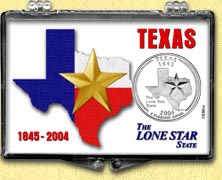 Texas - Lone Star State Snaplock Display
