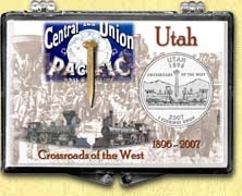 Utah - Crossroads Of The West Snaplock Display