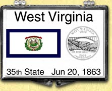 West Virginia - State Flag Snaplock Display