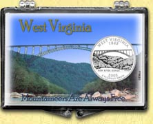 West Virginia - Mountaineers Snaplock Display