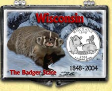 Wisconsin - Badger State Snaplock Display