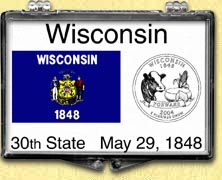 Wisconsin - State Flag Snaplock Display