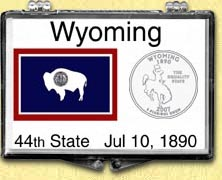 Wyoming - State Flag Snaplock Display