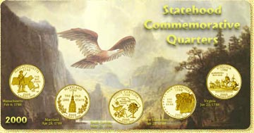 2000 State Quarter Set - with Gold Plated State Quarters