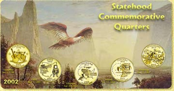 2002 State Quarter Set - with Gold Plated State Quarters