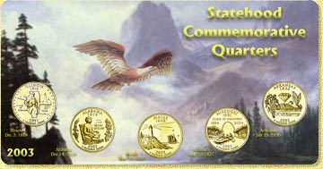 2003 State Quarter Set - with Gold Plated State Quarters