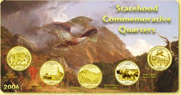 2006 State Quarter Set - with Gold Plated State Quarters