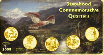 2008 State Quarter Set - with Gold Plated State Quarters