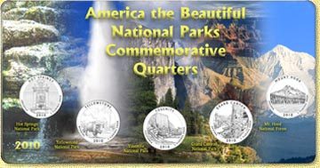 2010 America The Beautiful National Parks Quarter Set