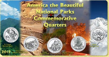2012 America The Beautiful National Parks Quarter Set