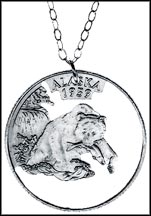 Alaska Cut-Out Coin Necklace MAIN