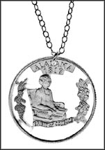 Alabama Cut-Out Coin Necklace MAIN