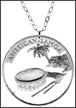American Samoa Cut-Out Coin Necklace