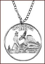 California Cut-Out Coin Necklace MAIN