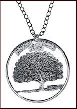Connecticut Cut-Out Coin Necklace