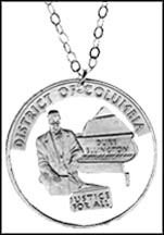 District of Columbia Cut-Out Coin Necklace