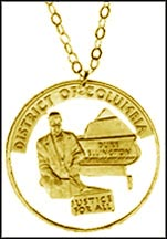 District of Columbia Gold Plated Cut-Out Coin Necklace
